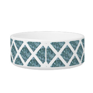 Crackled Glass Birthstone Design March Aquamarine Bowl