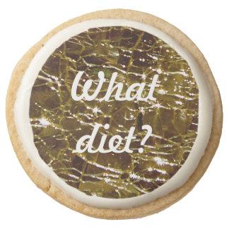 Crackled Glass Birthstone November Topaz Round Shortbread Cookie