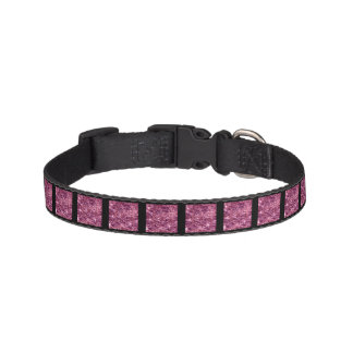 Crackled Glass Birthstone October Pink Tourmaline Pet Collar