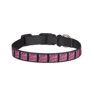 Crackled Glass Birthstone October Pink Tourmaline Pet Collar