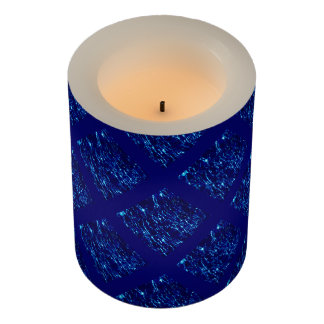 Crackled Glass Birthstone September Sapphire Flameless Candle