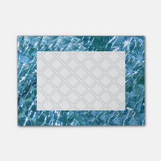 Crackled Glass Swirl Design - Blue Topaz Post-it Notes