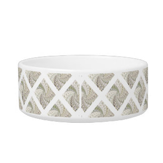 Crackled Glass Swirl Design - Diamond Bowl