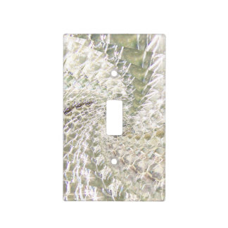crackled glass swirl design diamond light switch cover