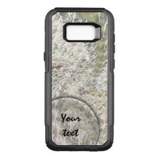 Crackled Glass Swirl Design - Diamond OtterBox Commuter Samsung Galaxy S8+ Case