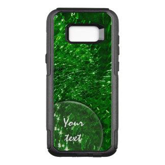 Crackled Glass Swirl Design - Green Emerald OtterBox Commuter Samsung Galaxy S8+ Case