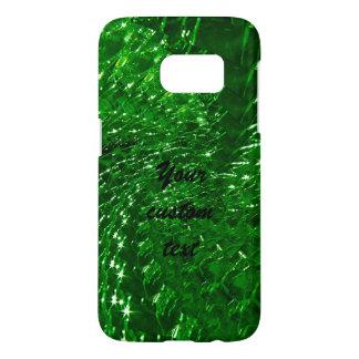 Crackled Glass Swirl Design - Green Emerald Samsung Galaxy S7 Case
