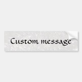 Crackled Glass Swirl Design - Pearl/Moonstone Bumper Sticker