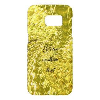 Crackled Glass Swirl Design - Yellow Citrine Samsung Galaxy S7 Case