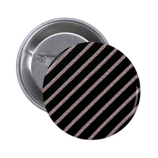 Crackled Lines in Black & Beige Button