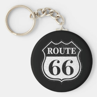 Crackled Rte 66 Keychain