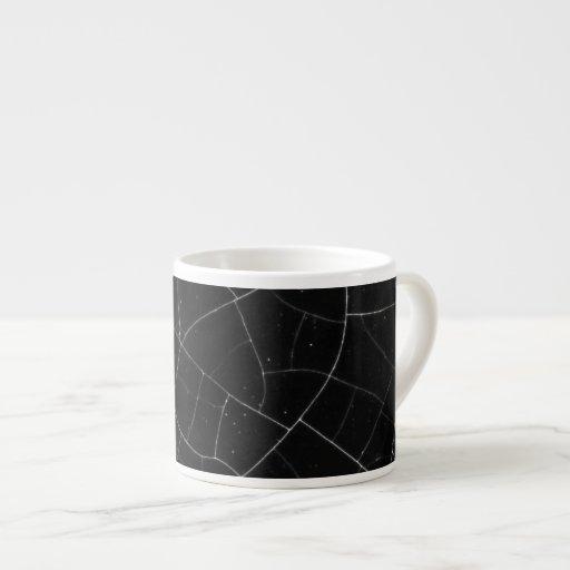 Crackled texture espresso mug