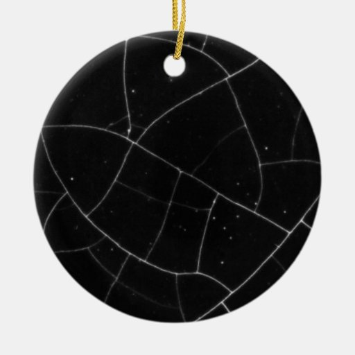 Crackled texture Double-Sided ceramic round christmas ornament