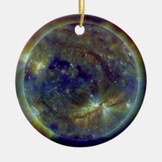 Crackling With Solar Flares Ceramic Ornament