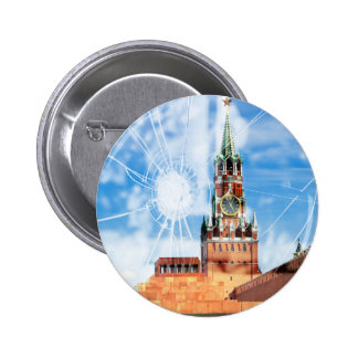 Cracks of Russian power Pinback Button