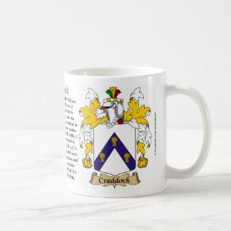 Craddock el origen el significado y el escudo taza de café