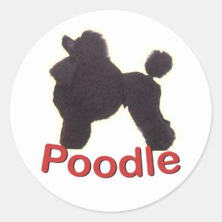 Cradle Black Poodle Sticker