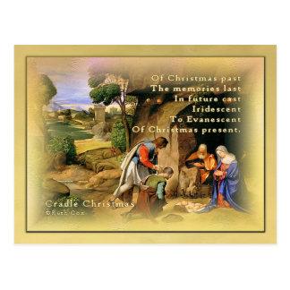 Cradle Christmas Postcard