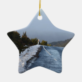 CRADLE MOUNTAIN SNOW TASMANIA AUSTRALIA CERAMIC ORNAMENT