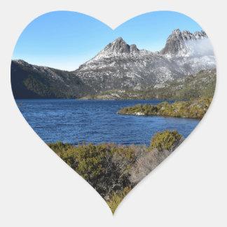 CRADLE MOUNTAIN ST CLAIR NATIONAL APRK TASMANIA HEART STICKER