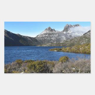 CRADLE MOUNTAIN ST CLAIR NATIONAL APRK TASMANIA RECTANGULAR STICKER