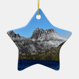 CRADLE MOUNTAIN ST CLAIR NATIONAL PARK TASMANIA CERAMIC ORNAMENT