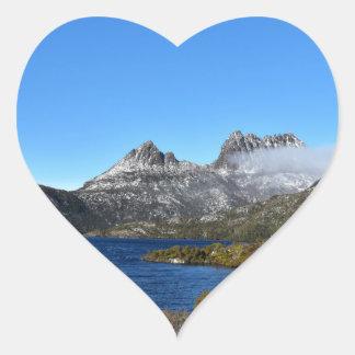 CRADLE MOUNTAIN ST CLAIR NATIONAL PARK TASMANIA HEART STICKER