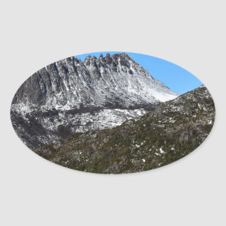 CRADLE MOUNTAIN ST CLAIR NATIONAL PARK TASMANIA OVAL STICKER