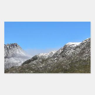 CRADLE MOUNTAIN ST CLAIR NATIONAL PARK TASMANIA RECTANGULAR STICKER