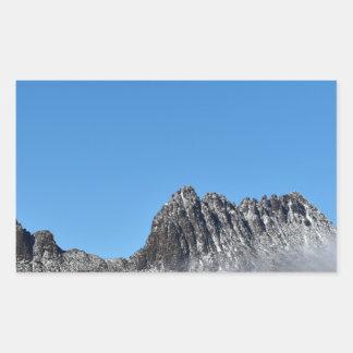 CRADLE MOUNTAIN TASMANIA AUSTRALIA RECTANGULAR STICKER