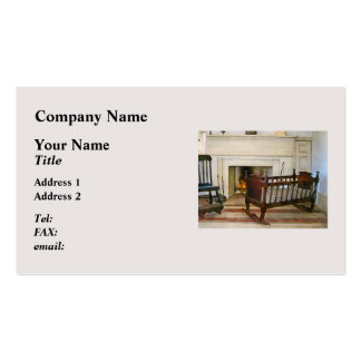 Cradle Near Fireplace Double-Sided Standard Business Cards (Pack Of 100)