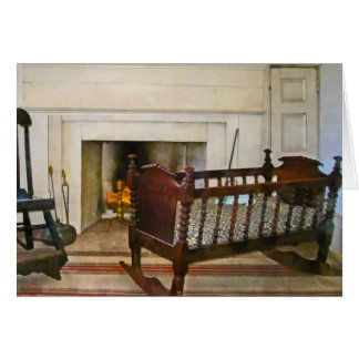 Cradle Near Fireplace Greeting Card