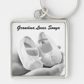 Cradled Baby Shoes Keychain
