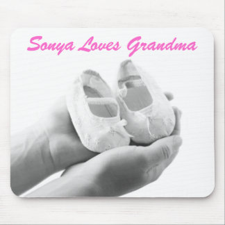 Cradled Baby Shoes Mouse Pad
