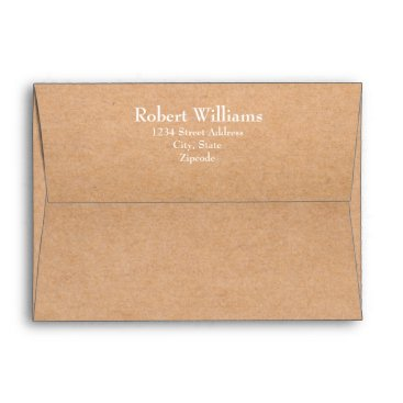 Professional Business Craft 7 x 5  Mailing Envelopes with Return Address