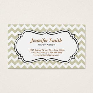 Craft Artist - Chevron Simple Jasmine Business Card