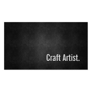 Craft Artist Cool Black Metal Simplicity Double-Sided Standard Business Cards (Pack Of 100)