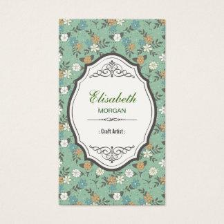 Craft Artist - Elegant Vintage Floral Business Card