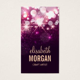 Craft Artist - Pink Glitter Sparkles Business Card