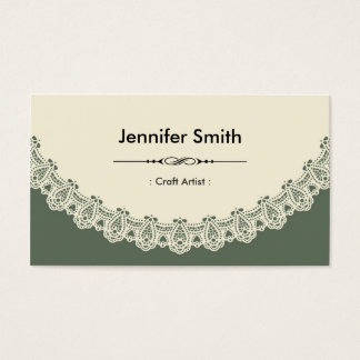 Craft Artist - Retro Chic Lace Business Card