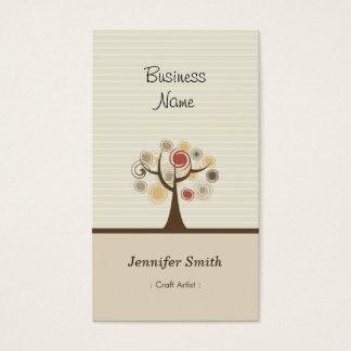 Craft Artist - Stylish Natural Theme Business Card