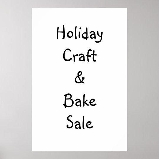 Craft & Bake Sale Sign