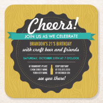 Craft Beer Birthday Coaster Invite