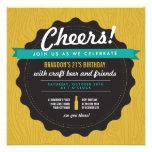 Craft Beer Birthday Invite