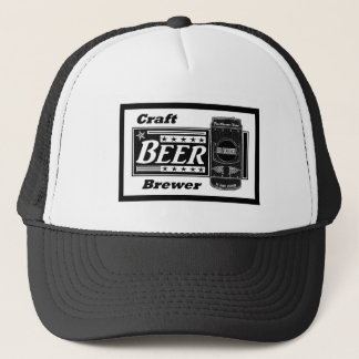 Craft Beer Brewer - Black & White Can with Stars Trucker Hat