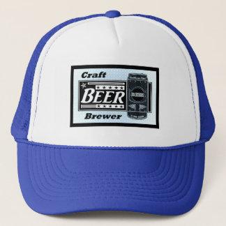 Craft Beer Brewer - Blue Black & White Can Stars Trucker Hat
