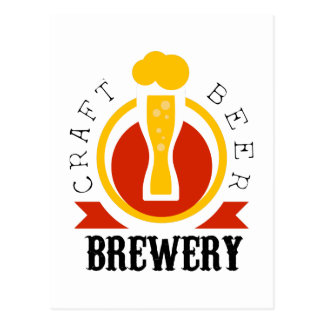 Craft Beer Brewery Logo Design Template Postcard