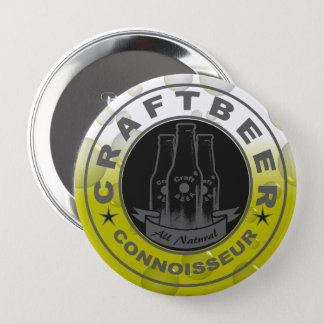 Craft Beer Connoisseur Bubble Yellow Button