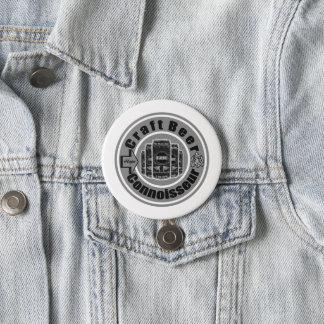 Craft Beer Connoisseur Grey Pinback Button