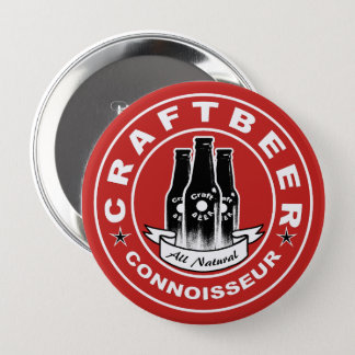 Craft Beer Connoisseur Red Button